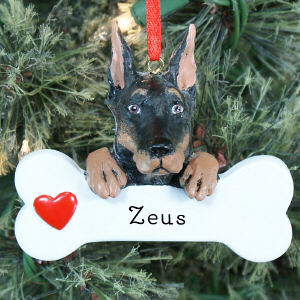 Engraved Doberman Pinscher Ornament 870603
