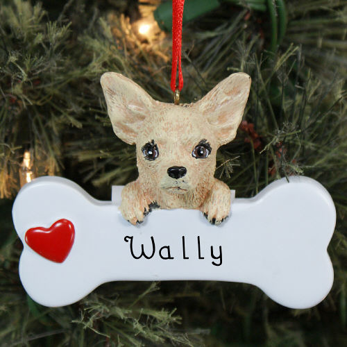 Engraved Chihuahua Ornament | Personalized Pet Ornaments
