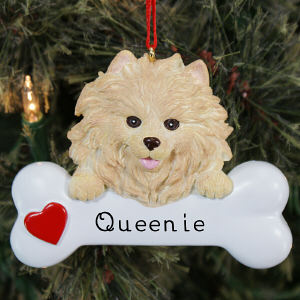 Engraved Pomeranian Ornament | Personalized Pet Ornaments