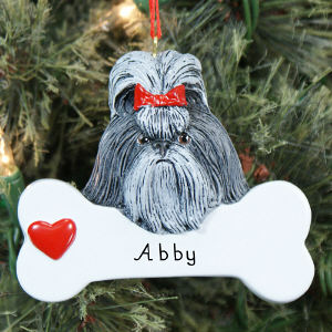 Engraved Shih Tzu Ornament 870633
