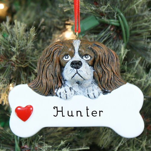Engraved Cavalier King Charles Spaniel Ornament | Personalized Pet Ornaments