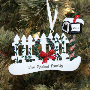 Our Mailbox Personalized Ornament