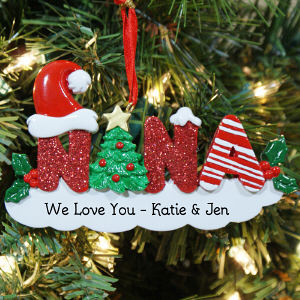 Personalized Nana Christmas Ornament
