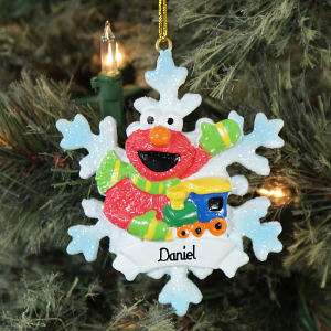 Personalized Elmo Christmas Ornament