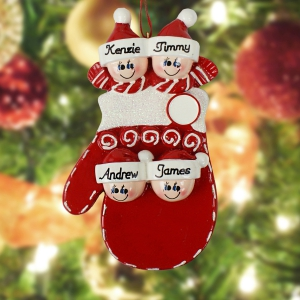 Personalized Family Mitten Ornament