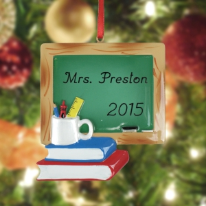 Teacher Chalkboard Personalized Ornament