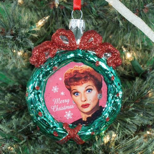 I Love Lucy Glass Reath Ornament NP00028