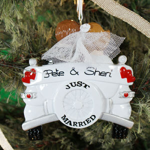 Personalized Newlywed Christmas Ornament