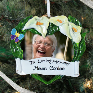 Personalized In Loving Memory Photo Frame Ornament 860683