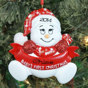 Personalized Snowbaby First Christmas Ornament 861093