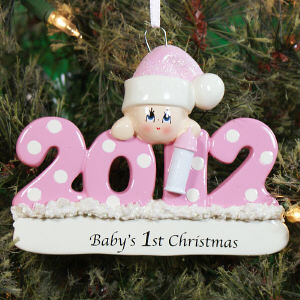 Baby's First 2012 Christmas Ornament
