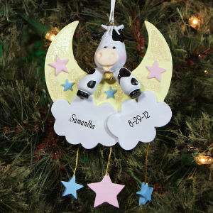 Personalized Cow Jumped Over The Moon Ornament