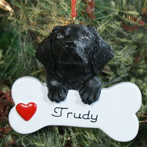 Personalized Black Lab Ornament 861213