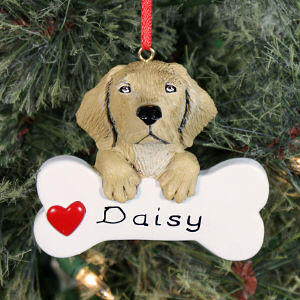 Yellow Lab Personalized Ornament