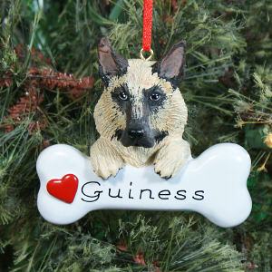 German Shepherd Personalized Ornament