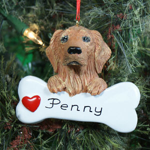 Personalized Golden Retriever Ornament 861243