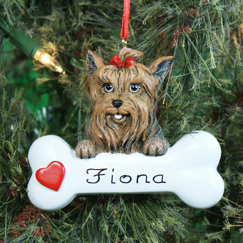Yorkshire Terrier Personalized Pet Ornament | Personalized Pet Ornaments