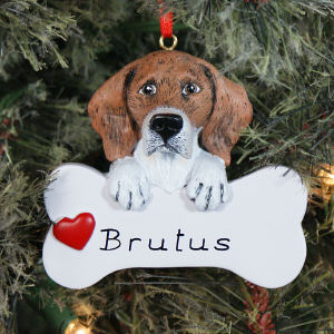 Personalized Beagle Dog Ornament 861263