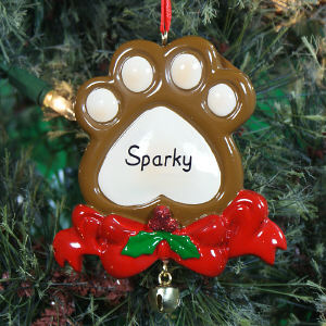 Personlized Paw Print Ornament 861313