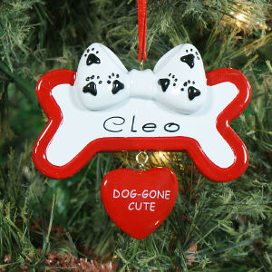 Personalized Dog Gone Cute Ornament 861323
