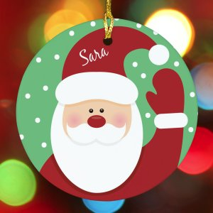 Ceramic Santa Ornament