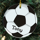 Soccer Ball Personalized Ceramic Ornament