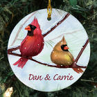 Personalized Ceramic Cardinals Ornament U375810