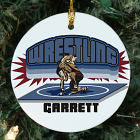 Personalized Ceramic Wrestling Ornament U380110