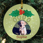 Personalized Ceramic Pet Photo Ornament