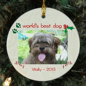 Dog Photo Ceramic Ornament