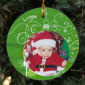 Personalized Ceramic Photo Ornament