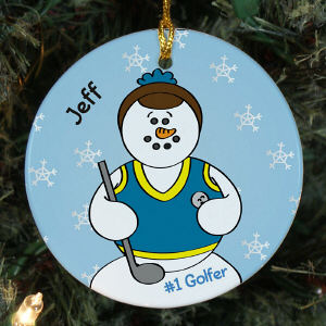 Personalized Ceramic Golf Ornament
