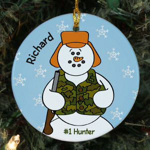 Personalized Hunting Ornament