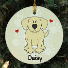 Personalized Ceramic Loved By My Yellow Lab Ornament