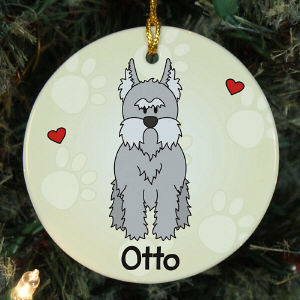 Personalized Mini Schnauzer Ornament