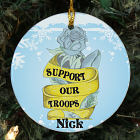 Personalized Ceramic Support Our Troops Ornament