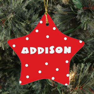 Personalized Ceramic Star Ornament