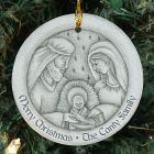 Personalized Ceramic Nativity Ornament