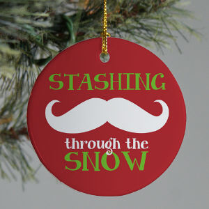 Ceramic Mustache Ornament