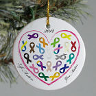 Personalized Ceramic Life Matters Awareness Ornament