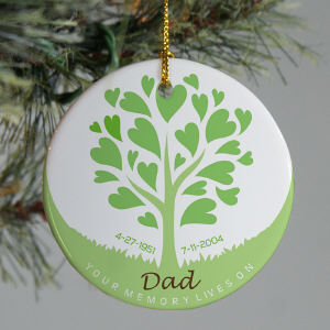 Personalized Ceramic Memorial Ornament