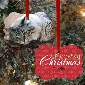 Personalized Benelux Cat Photo Ornament