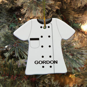 Personalized Ceramic Chef Ornament U718263