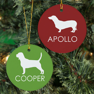 Dog Breed Personalized Ceramic Ornament