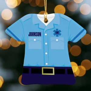 Personalized EMT Ornament