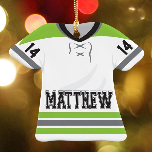 Hockey Jersey Ceramic Ornament | Personalized Hockey Ornaments