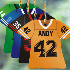 Personalized Football Jersey Ornament