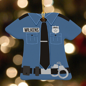 Personalized Police Uniform Ornament | Personalized Police Ornaments