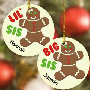 Sister Gingerbread Personalized Ornament