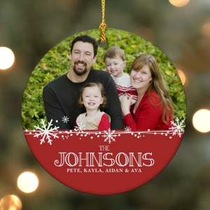Personalized Christmas Photo Ornament | Christmas Ornaments Personalized
